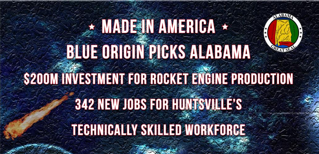 Blue Origin to Build Rocket Engines in Huntsville, Alabama