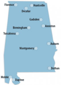 Alabama Locations for Job Training