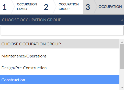 Occupation Group Selection