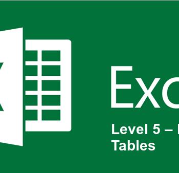 Excel Level 5 – PivotTables