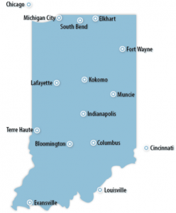Indiana Locations for Job Training
